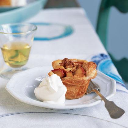 Roasted Apple and Walnut Tarts