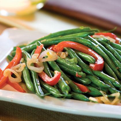 Green Bean-and-Red Bell Pepper Toss