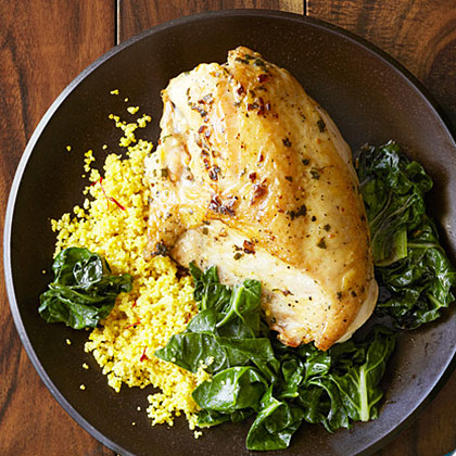 Quick Saffron Chicken With Couscous