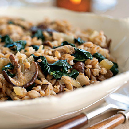 Farro with Roasted Porcini Mushrooms and Cavolo Nero