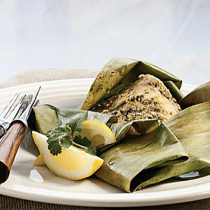 Coriander-Cumin Steamed Fish Packets Recipe