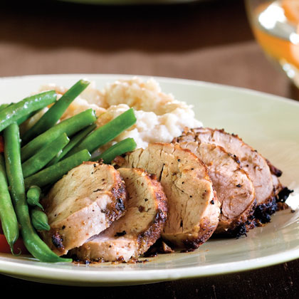 Mustard-and-Wine Pork Tenderloin