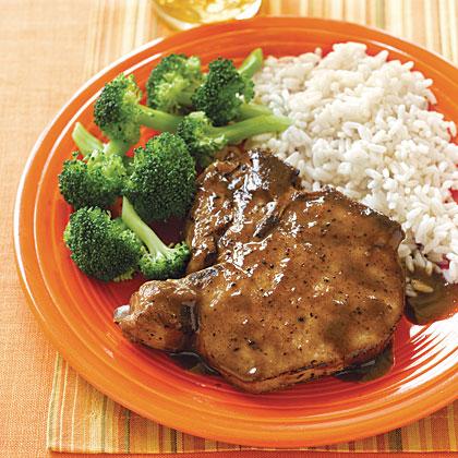 Soy pork chops recipe