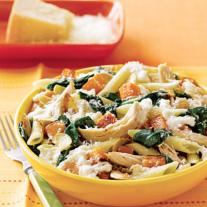 Penne with Squash and Chicken