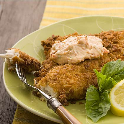 Tuscan Catfish With Sun-dried Tomato Aioli