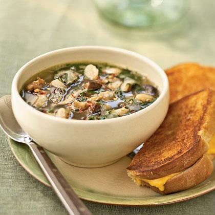 Italian White Bean and Spinach SoupRecipe