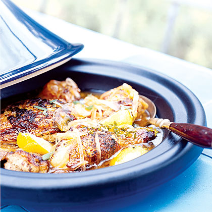 Chicken Tagine with Onions, Honey, and Mint Recipe   MyRecipes