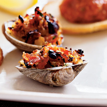Clams Casino with PancettaRecipe