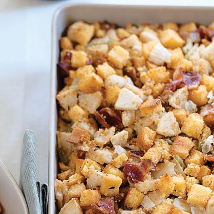 Apple Bacon Cornbread Stuffing