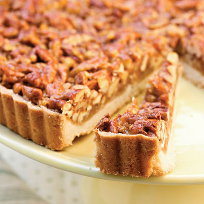 Caramel-Pecan Tart RecipeServe this top-rated pecan tart recipe for dessert at holiday dinners and parties.