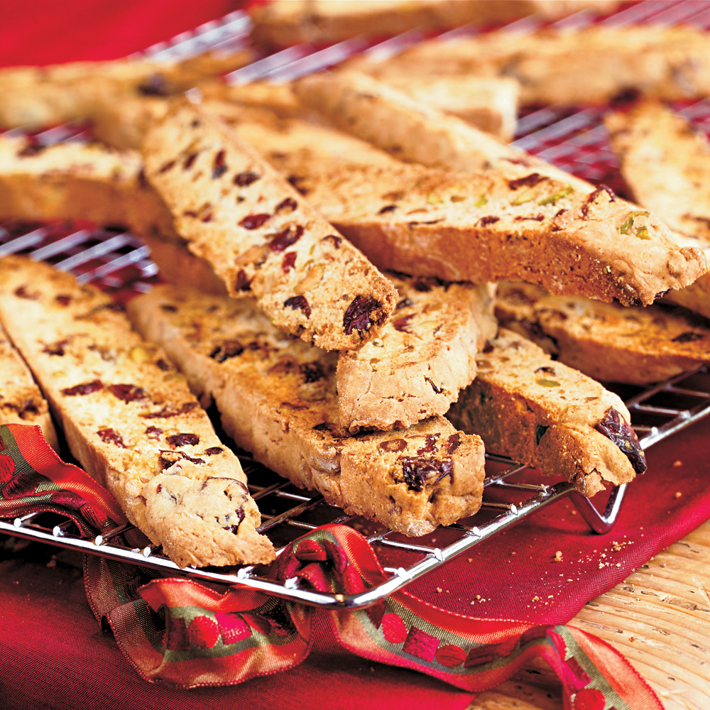 Pistachio-Cranberry Biscotti
