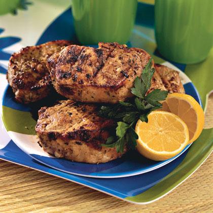 Herb-Marinated Pork Steaks