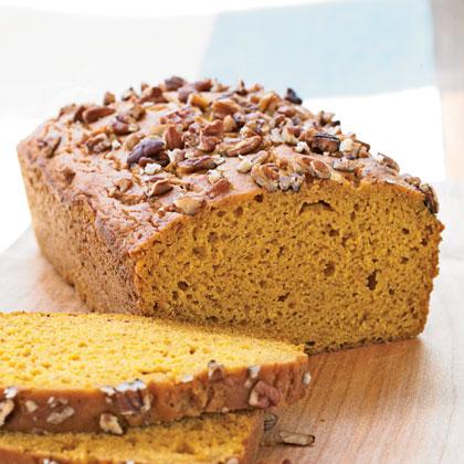 <p>Pecan-Topped Pumpkin Bread</p>
