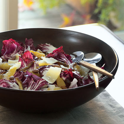 Radicchio Salad with Citrus, Dates, Almonds, and Parmesan Cheese Recipe