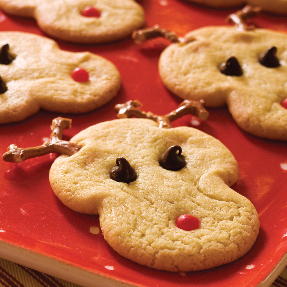 Christmas Shaped Chocolate Chip Cookies