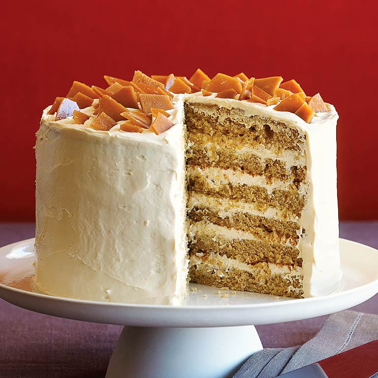 Spice Cake with Coffee Toffee Crunch Recipe