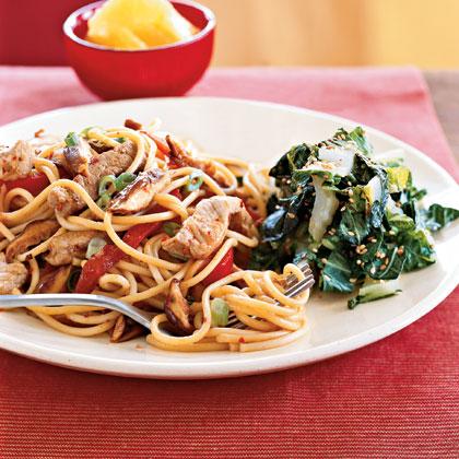 Teriyaki Pork and Vegetables with Noodles