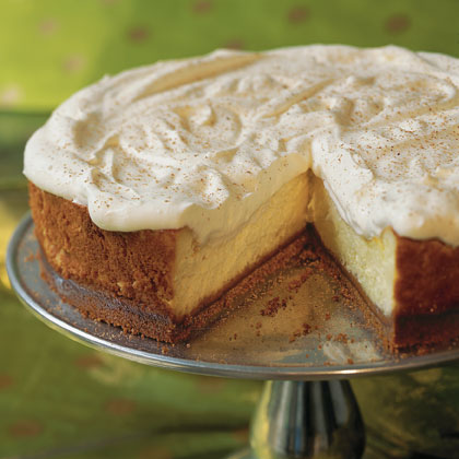 Eggnog Cheesecake With Gingersnap CrustRecipe