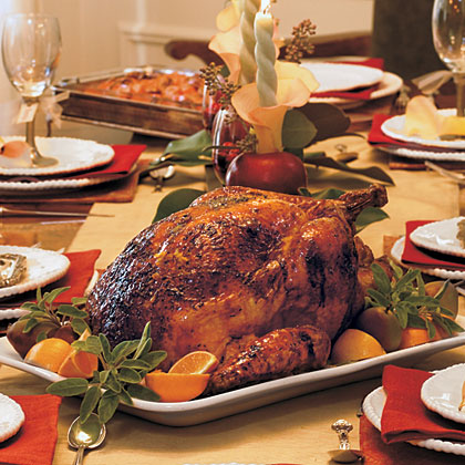 Marmalade-Glazed Turkey and Giblet Gravy