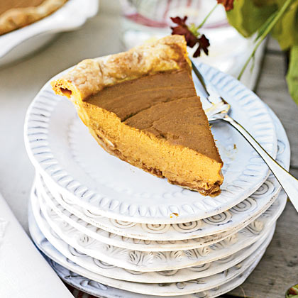 Pumpkin and Caramelized-Pecan Pie
