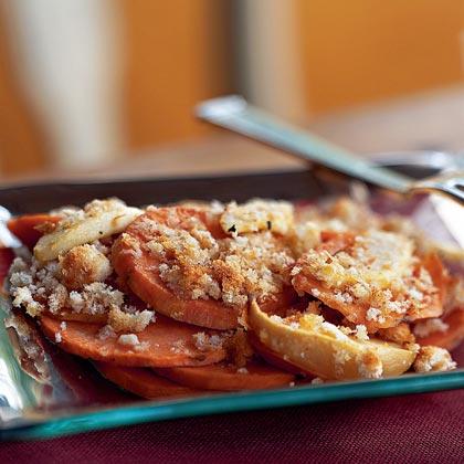 Sweet Potato and Apple Gratin