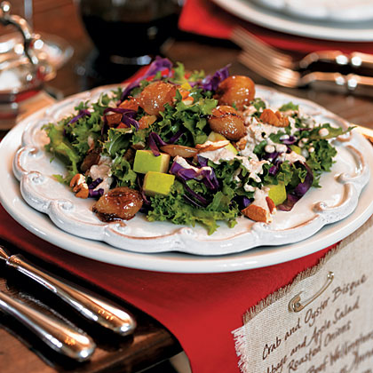 Cabbage and Apple Salad with Roasted Onions Recipe