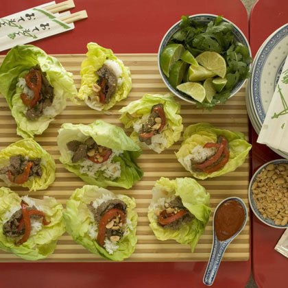Spicy Asian Beef Lettuce Wraps