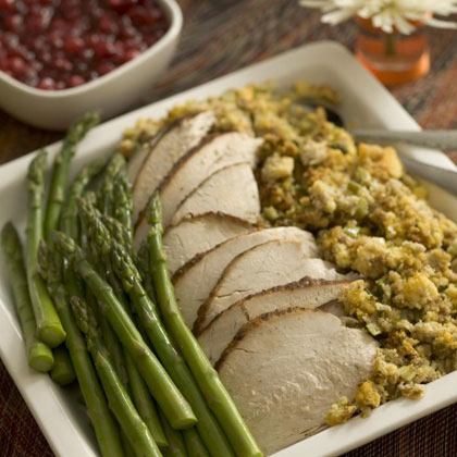 Savory Herb Roasted Turkey Recipe | MyRecipes