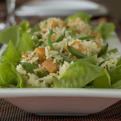 Sweet Potato-Rice Salad Recipe
