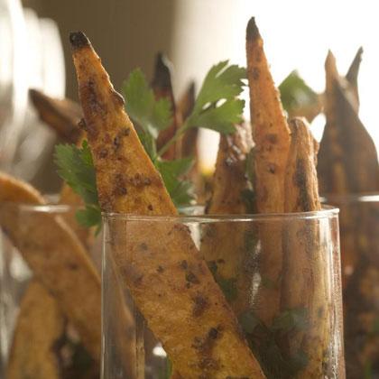 Garlic-Herb Roasted Sweet Potatoes