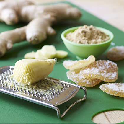 Long revered as a medicinal remedy, ginger is used in some cultures to relieve nausea and upset stomachs, and features in many types of dishes. This pungent root comes in many forms—fresh, crystallized, and ground—but they all add a special flavor to everything from cookies to soups.