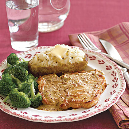 Pork Chops with Mustard Sauce Recipe - 0 | MyRecipes