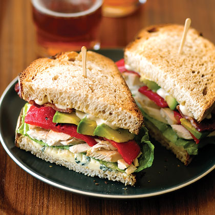 Chicken, Bacon, and Blue-Cheese Sandwiches Recipe