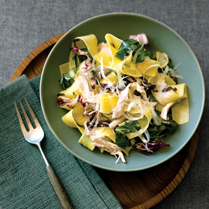 Pappardelle with Chicken and Winter Greens
