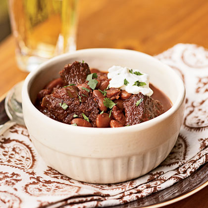 Ancho, Beef, and Kidney Bean Chili Recipe