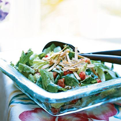 Salad: Caesar Salad with Chile-Cilantro Dressing