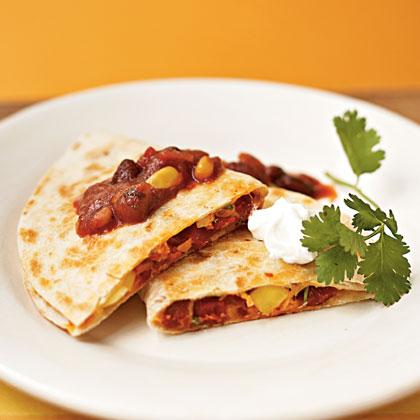 Mango, Chicken, and Chorizo Quesadillas