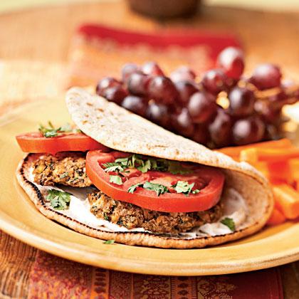 Baked Falafel Sandwiches with Yogurt-Tahini SauceRecipe