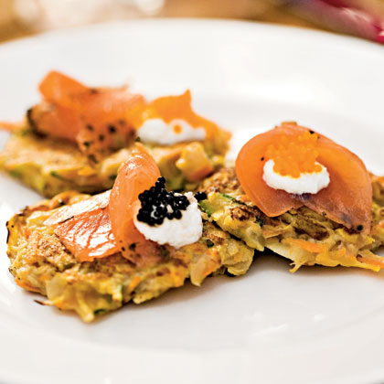Tricolor Vegetable Latkes Recipe
