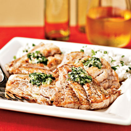 Broiled Red Snapper with Ginger-Lime ButterRecipe