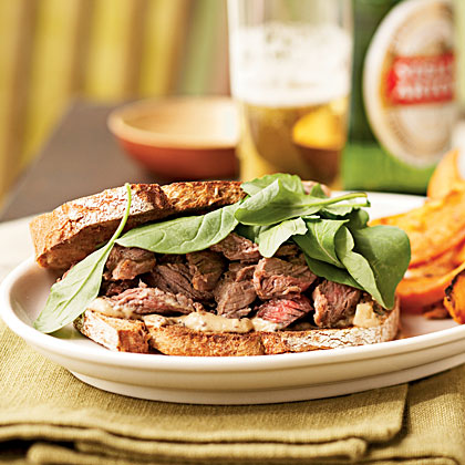 Steak Sandwiches with Worcestershire Mayonnaise Recipe