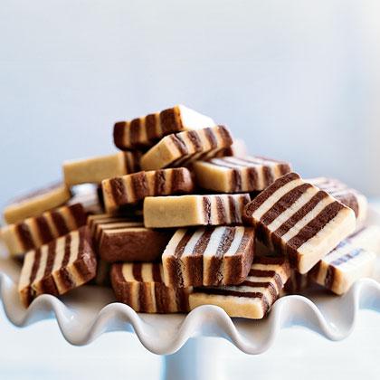 Black and White Striped CookiesRecipe