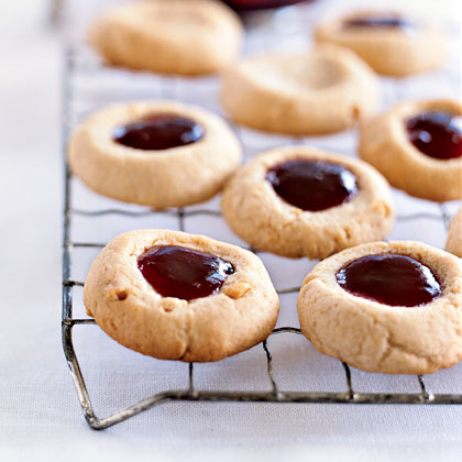 Peanut Butter and Jelly ThumbprintsRecipe