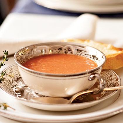 Tomato Soup with Parmesan Toast Recipe | MyRecipes