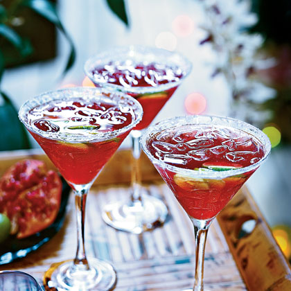 Pomegranate-Key Lime Vodka Cocktails