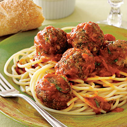 Spaghetti And Easy Meatballs Recipe Myrecipes