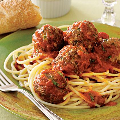 Spaghetti and Easy Meatballs