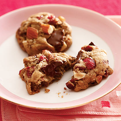 Cherry-Almond-Chocolate-Chunk Cookies Recipe | MyRecipes.com