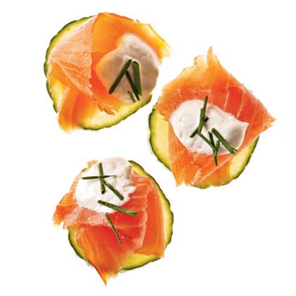 Salmon Canapes With Horseradish Cream