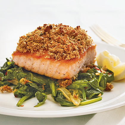 Salmon With Lemon-Mint Crust